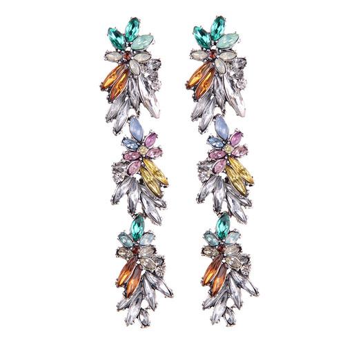 Multicolored Crystal Drop Earrings