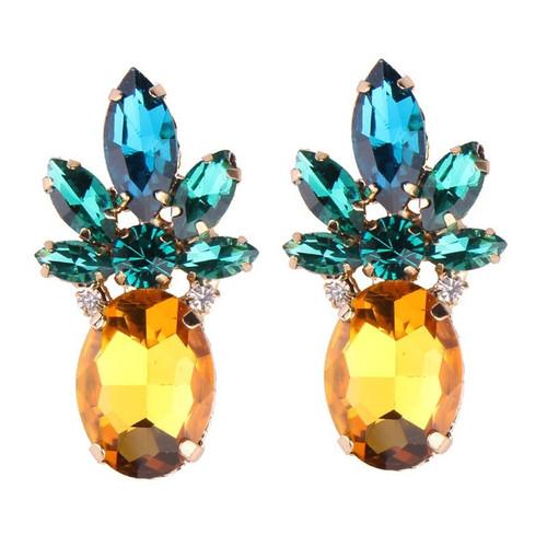 Multicolor Pineapple Earrings