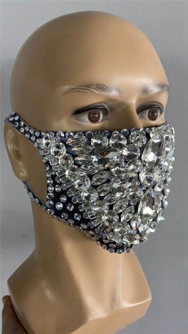 Jeweled Gem Crystal Mask