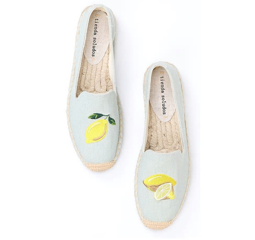 Lemon Espadrille Loafers
