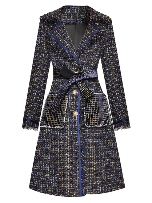 Single Breasted Tweed Coat