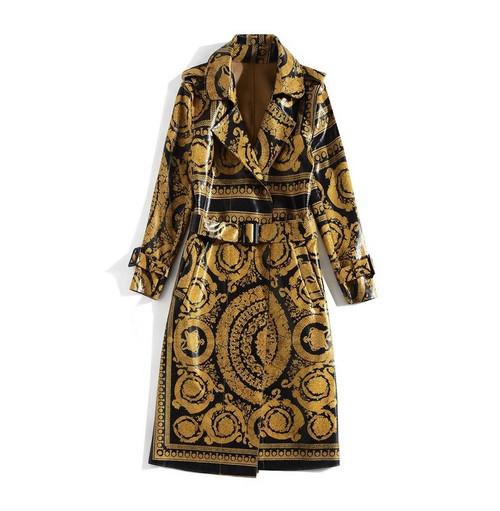 Royal Print Trench Coat