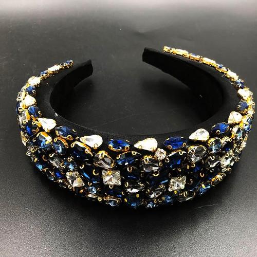 Baroque Jeweled  Blue Headband