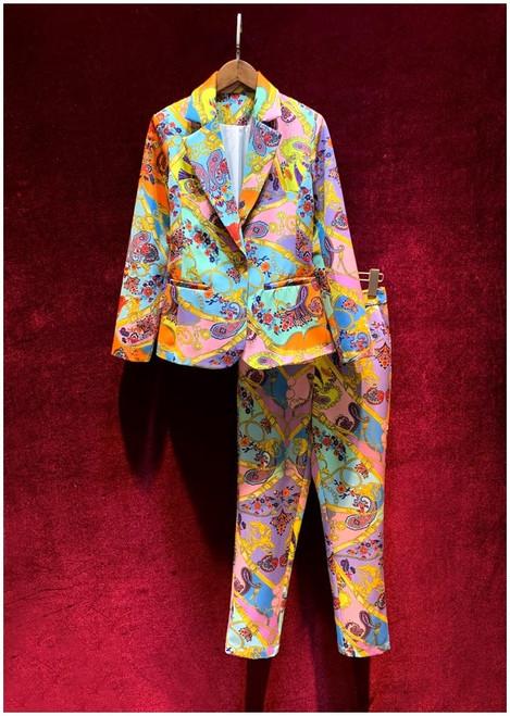 Regal Print Pant Suit