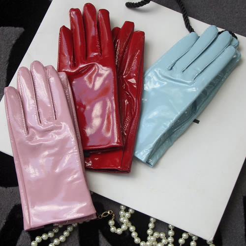 Patent Leather Gloves