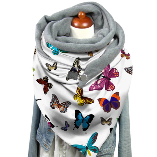 Butterfly Print  Wrap Scarf
