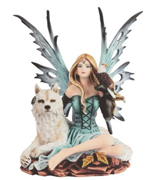 Blue Fairy with Wolf