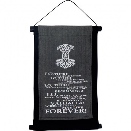 Small Valhalla Prayer Banner