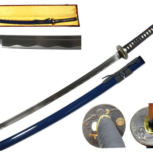 Blue Handmade Sword & Display Box