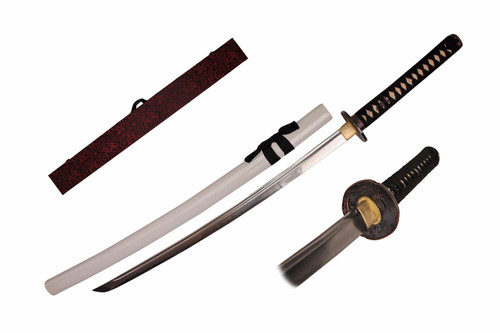 White Functional Katana Box Sword