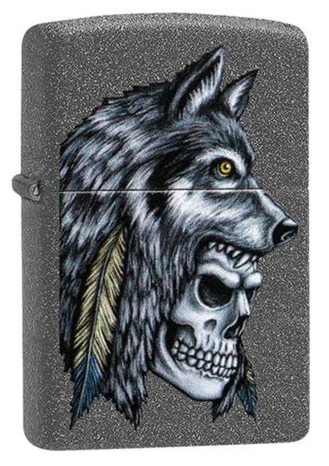 Zippo: Wolf Skull Feather