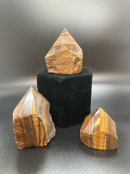 Tigers Eye Polished Standing Point