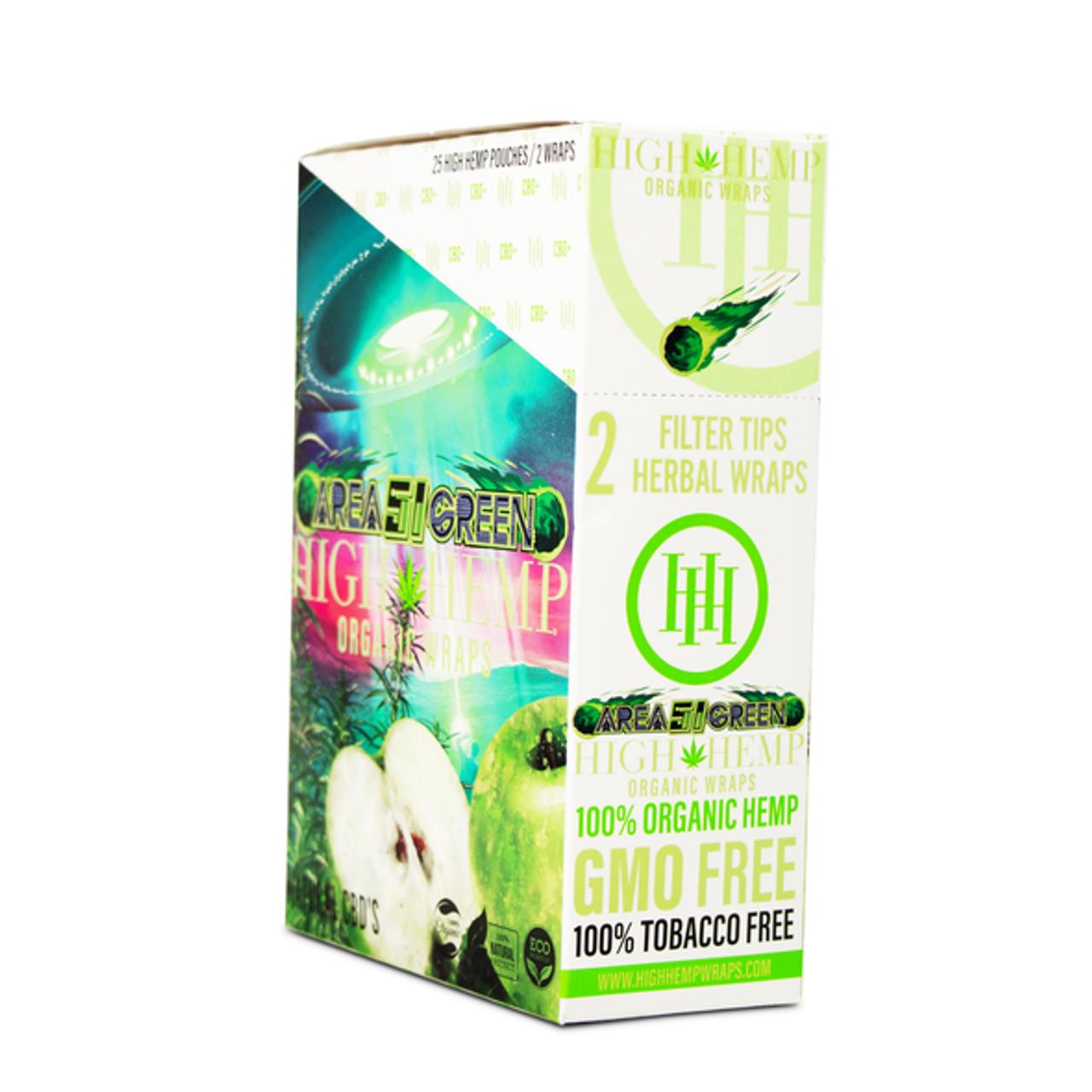 High Hemp High Hemp Organic Wraps 2ct - 25pk at The Cloud Supply