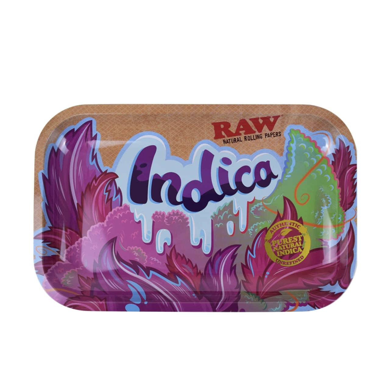 RAW RAW Indica Metal Rolling Tray Small at The Cloud Supply