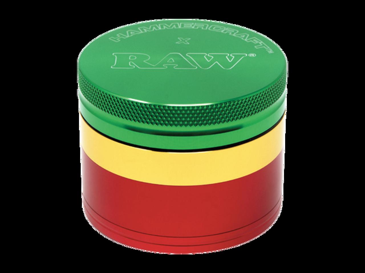 RAW Raw X Hammercraft Grinder - Rasta at The Cloud Supply