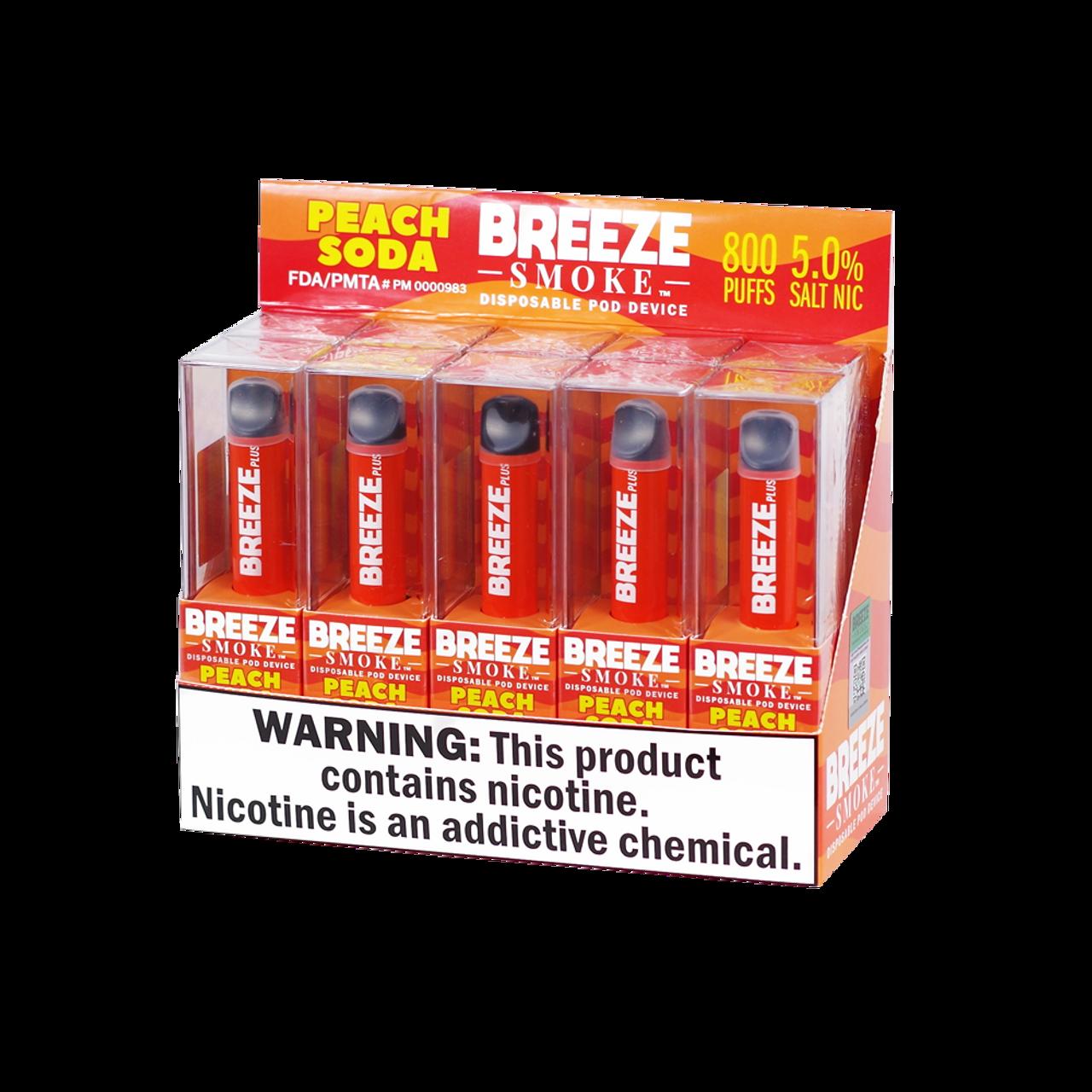 Breeze Breeze Plus Disposable - 5percent 800 Puffs - 10pk at The Cloud Supply