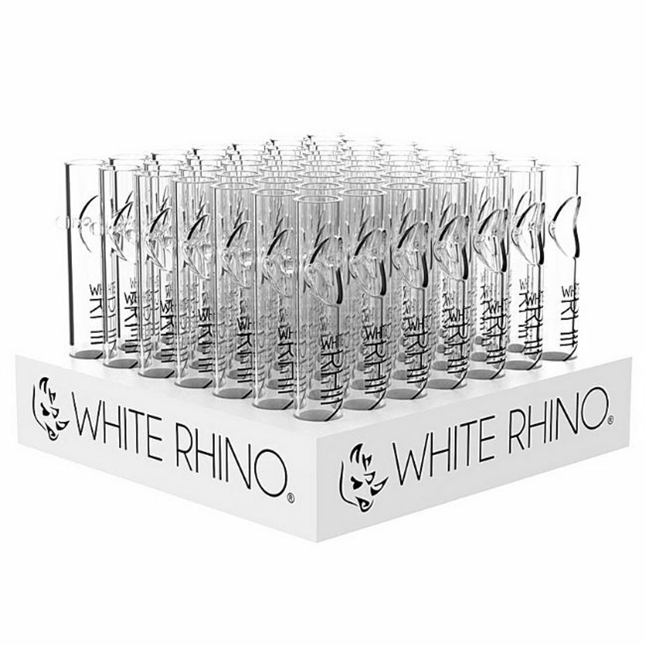White Rhino Glass Blunt Display - 49ct at The Cloud Supply