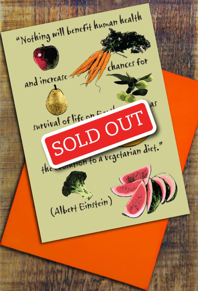 Einstein Vegetarian cards pack of 8