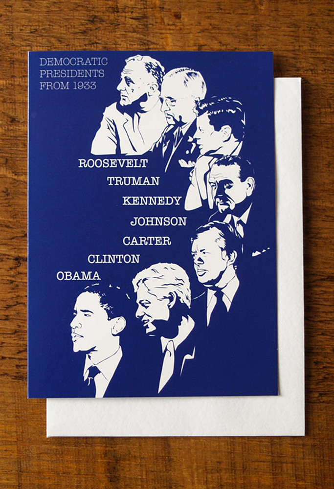 Democrat Party Presidents cards pack of 8