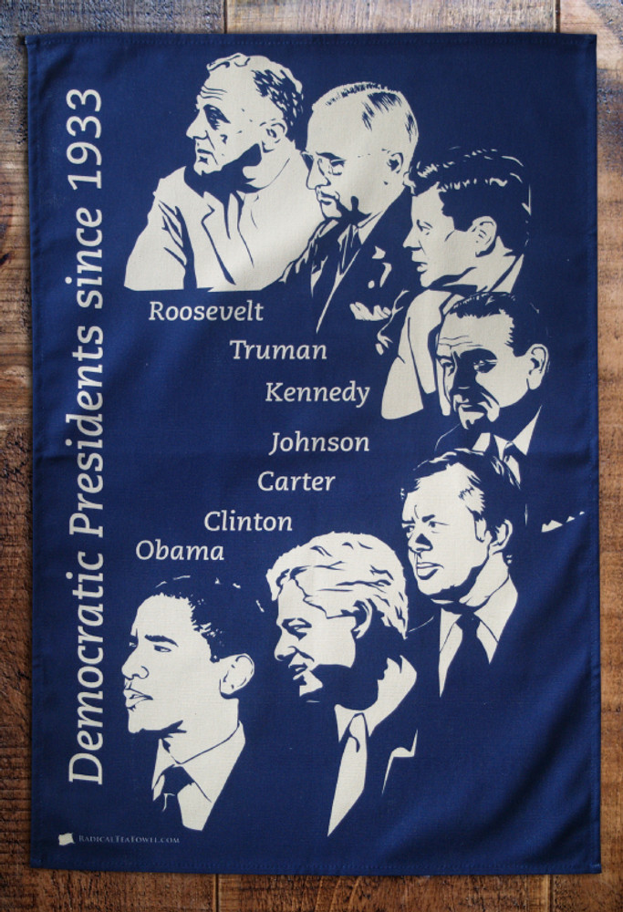 Democrat Party Presidents tea towel