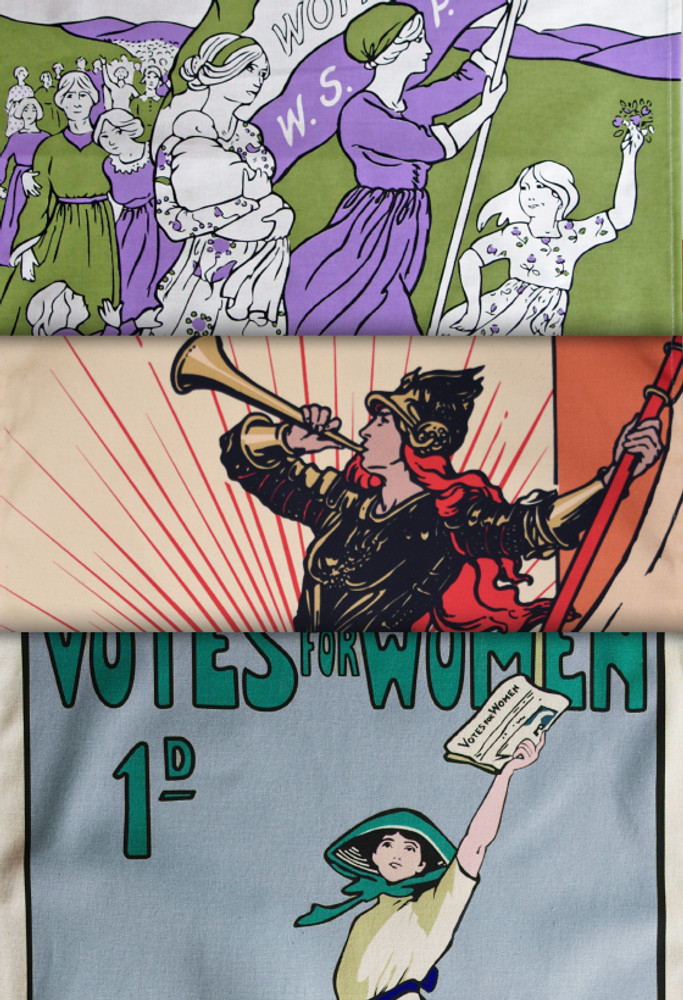 Women's Suffrage tea towel collection