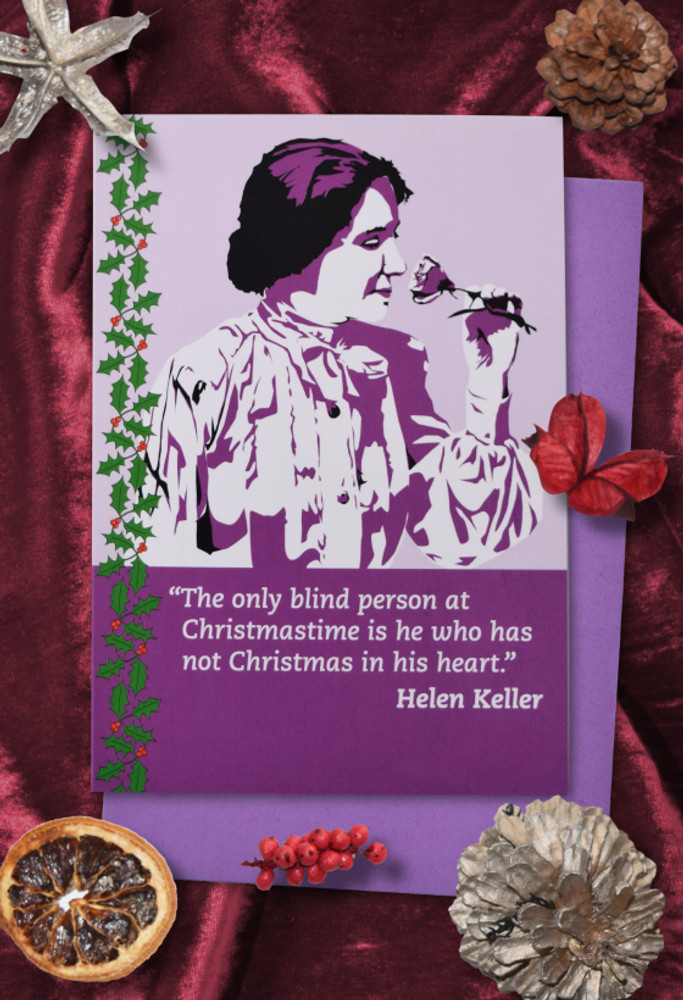 Radicals at Christmas: Helen Keller Christmas cards pack of 8