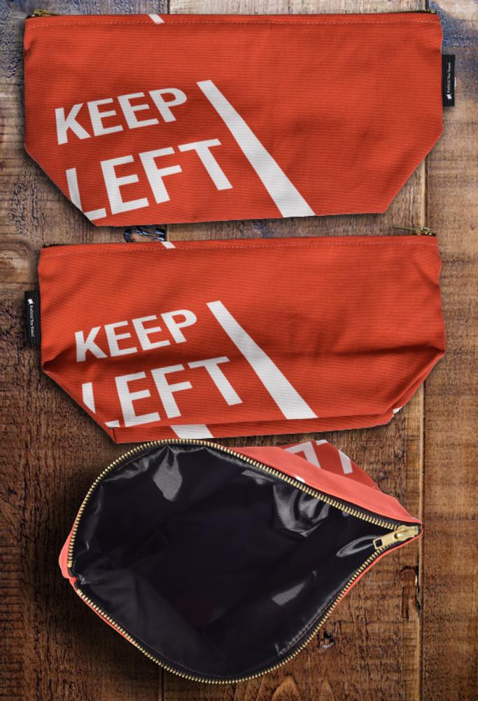 Keep Left premium wash bag