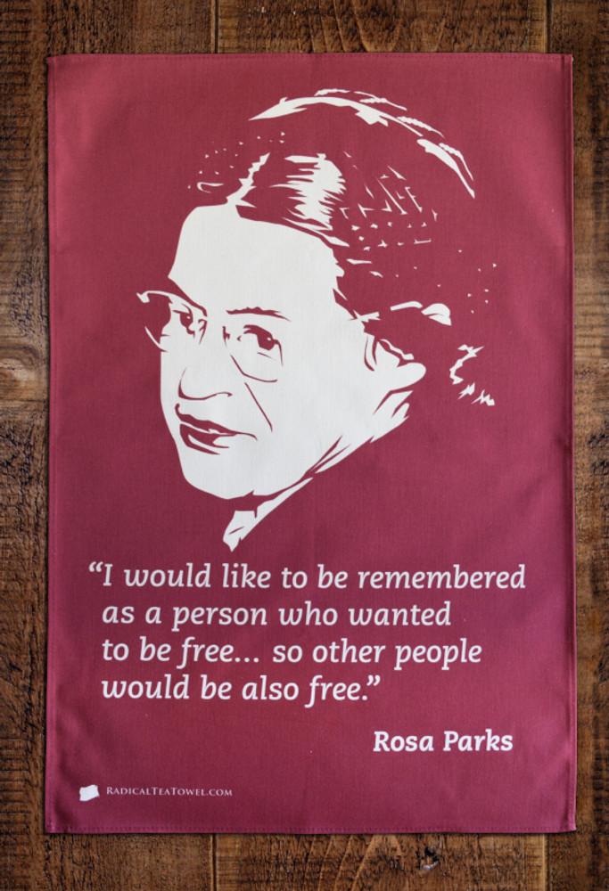 Rosa Parks Boycott tea towel