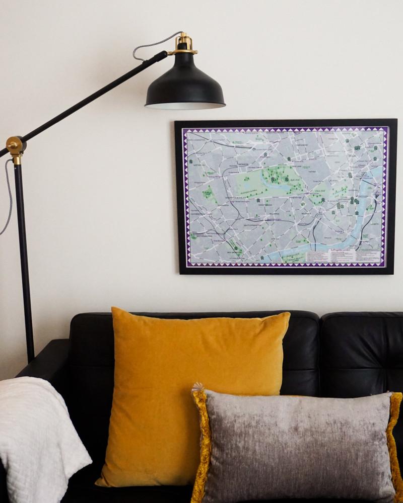 Suffragette London Framed Map
