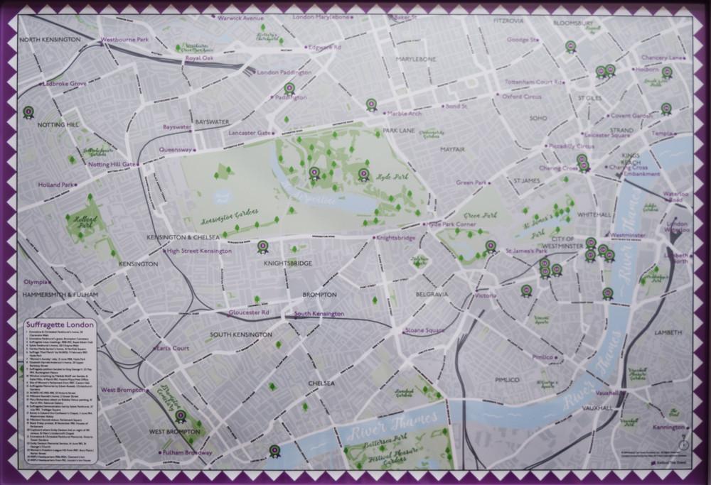 Suffragette London Map
