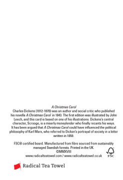 Dickens Christmas cards pack of 8