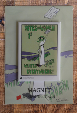 Votes for Women Wanted fridge magnet