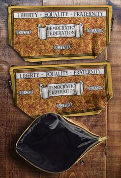 Liberty, Equality, Fraternity premium wash bag