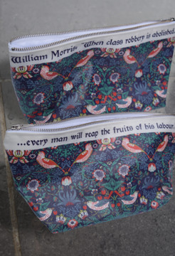 William Morris Strawberry Thief  shower bag
