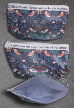 William Morris Strawberry Thief  shower bag