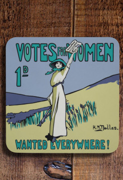 Votes for Women Wanted pot stand