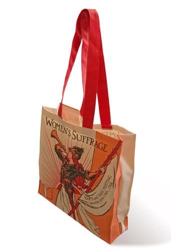 Bugler Girl Suffragette tote bag