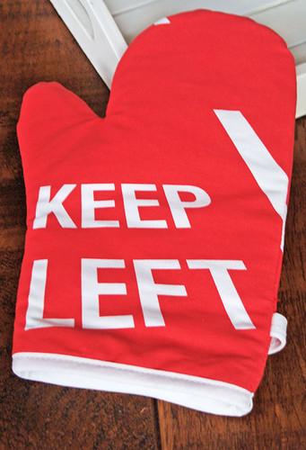 Keep Left oven mitt