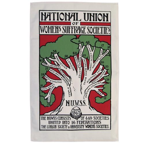 NUWSS women's suffrage tea towel