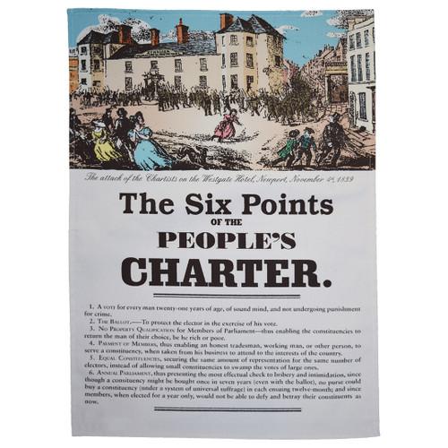 People's Charter tea towel