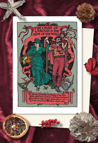 Walter Crane Labour Christmas cards pack of 8