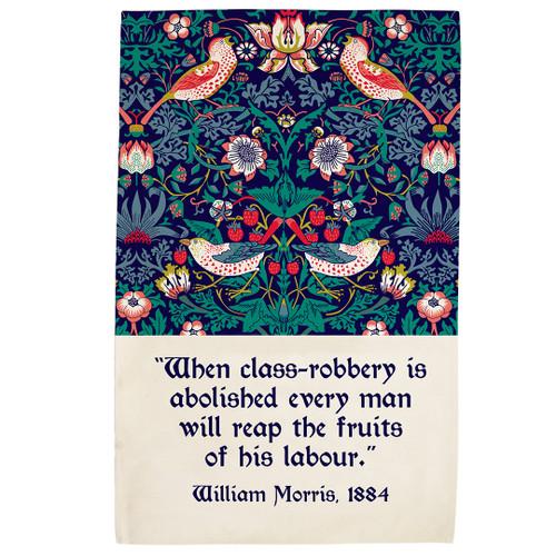 William Morris Strawberry Thief tea towel