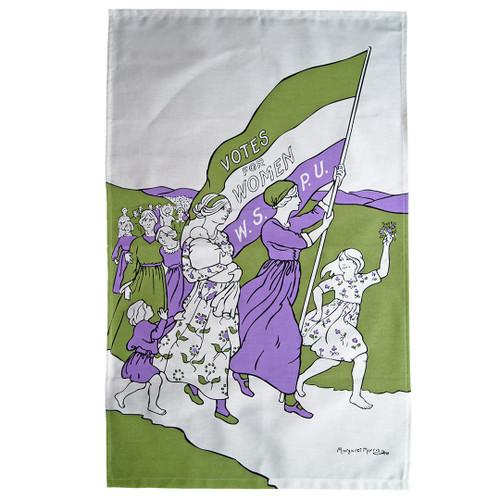 Women's March tea towel