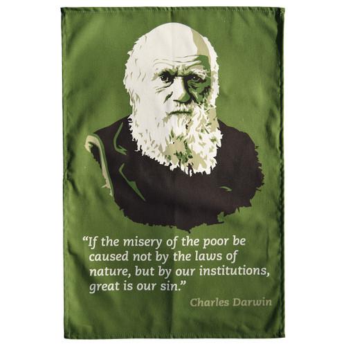 Charles Darwin tea towel