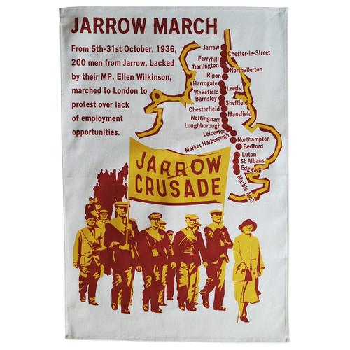 Jarrow March tea towel