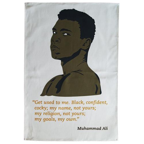Muhammad Ali tea towel