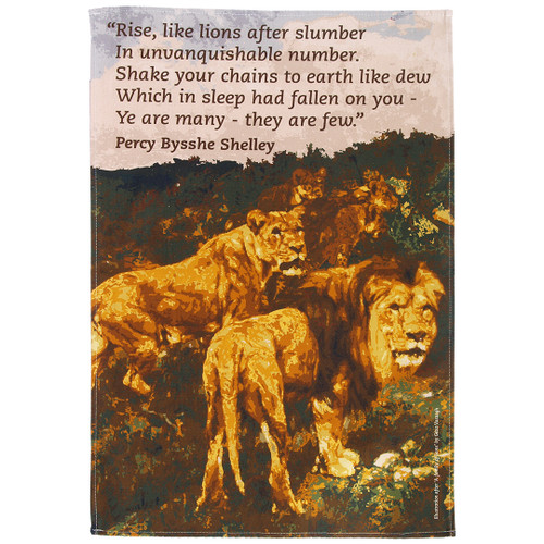 Percy Bysshe Shelley Lions tea towel