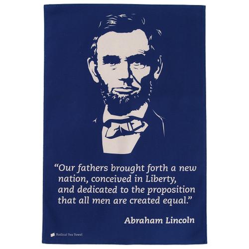 Abraham Lincoln tea towel