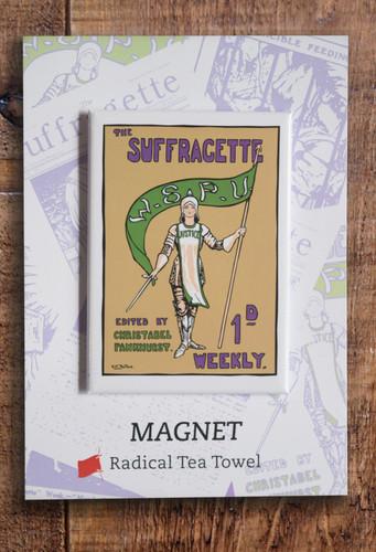 Joan of Arc Suffragette fridge magnet