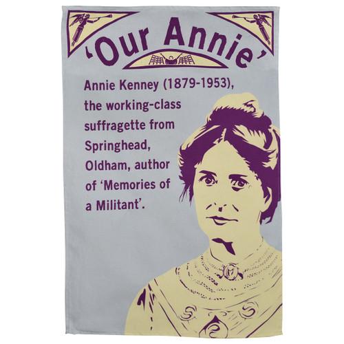 Annie Kenney tea towel
